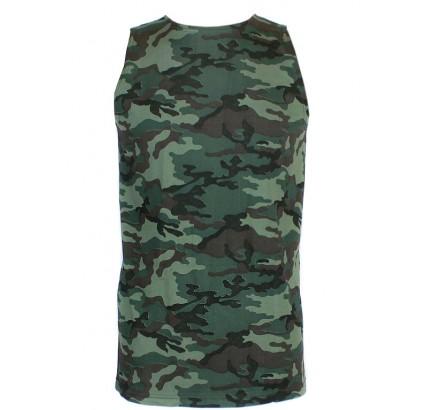Camisas rusas tácticas del camo de la flora r camiseta sin mangas