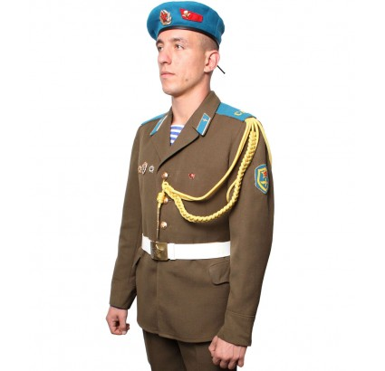 Soviet Army VDV Airborne troopers parade Russian uniform