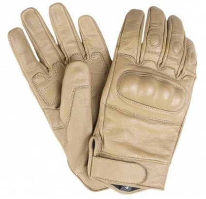 Sport / tactical leather fist gloves Сoyote model with Knuckles