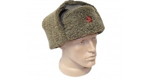 Soviet Officer's Ushanka Military Khaki Hat
