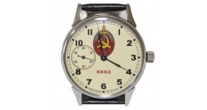 Soviet NKVD wrist watch MOLNIYA sign