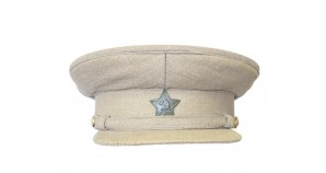 Soviet military Officer khaki Russian visor hat Afghanistan war