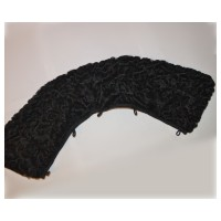Black ASTRAKHAN fur collar +$60.00