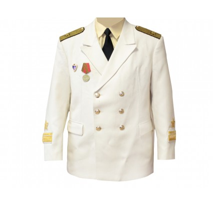 White Admiral Naval Fleet Parade Coat With Shirts
