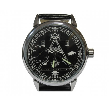 Soviet wrist watch MOLNIJA MASONIC symbols Russian clock