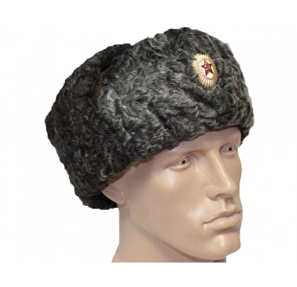 Russian State Security border guards winter earflaps hat ushanka