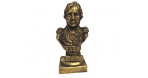 Bronze bust of British Vice Admiral Horatio Nelson