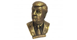 Bronze bust of the 45th president of the USA Donald Trump