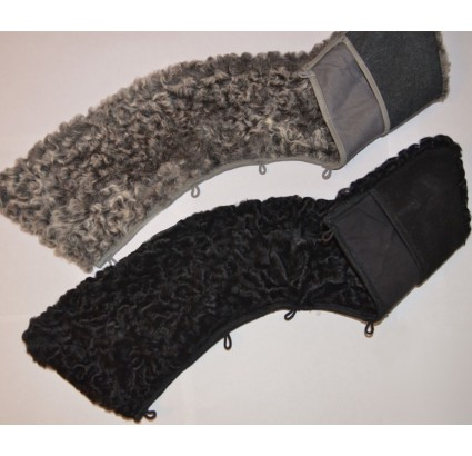 KARAKUL collar for Russian officers overcoats black and gray