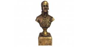 Bronze bust of Russian  admiral of the 18th century Ushakov