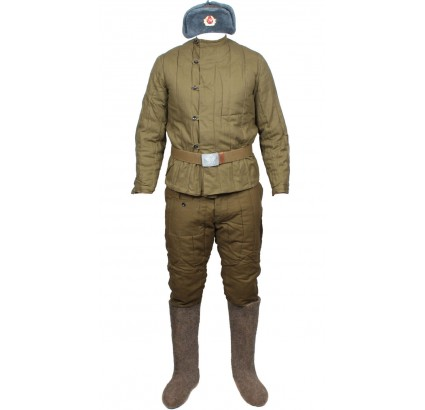 Russische Armee Winter Uniform FUFAIKA mit HOSEN