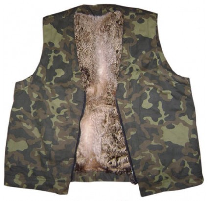 Exclusive Airsoft CAMO Vest with FOX FUR inside