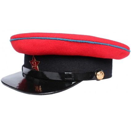 USSR Railroad Commandant WW2 type military visor hat