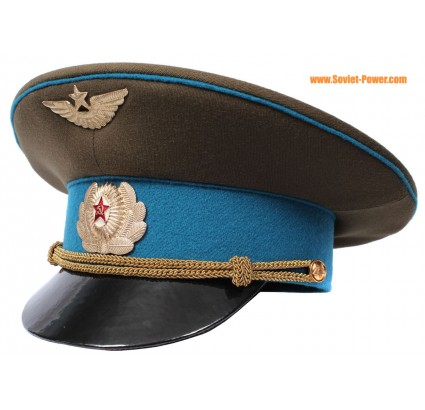 Russian Air Force Officer visor hat GAGARIN Soviet aviation