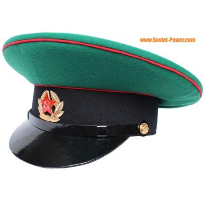 ソ連軍の国境防衛隊軍曹バイザーキャップ