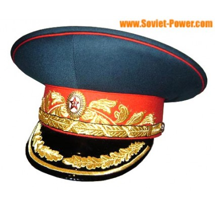 Soviet Marshall embroidery military visor cap