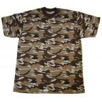Russie militaire spécial brun 4 couleurs T-shirt CAMO