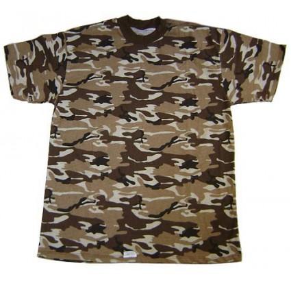 Russische Spezial Military 4-Farben braun CAMO T-Shirt
