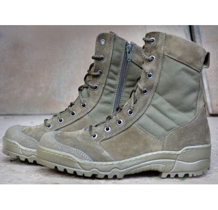 Tactical Stiefel Olive G.R.O.M. mit Reißverschluss für Special Forces