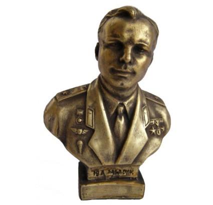 Busto de bronce ruso del piloto espacial soviético GAGARIN