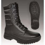 Black leather high winter boots Mont Blanc 528