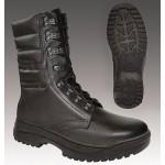 Bottes d'hiver en cuir noir Mont Blanc 528
