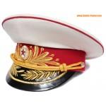 Sombrero de visor blanco soviético / ruso Infantería Generales