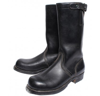 German Bundeswehr high leather boots with Continental sole 38