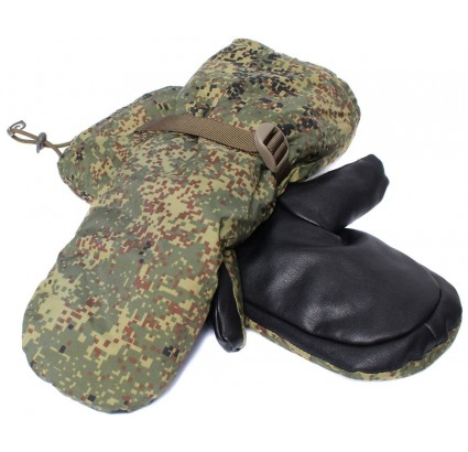 Long tactical winter gloves Russian Digital camo VKBO