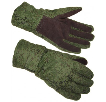 Russian Army pixel tactical winter gloves digital flora