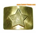 Ruso / soviético militar estrella de oro hebilla de cinturón