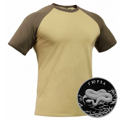 "Russian tactical anatomical khaki T-shirt ""GYURZA"" – GORKA X"