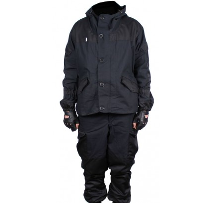 Modern GORKA 3 black winter uniform with fleece lining