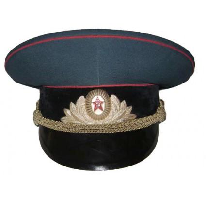 Artillerie et troupes Réservoir officiers chapeau visière russe