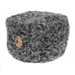 High rank Russian / Soviet Officers gray fur Astrakhan hat Papakha