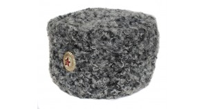 High rank Russian / Soviet Officers gray fur Astrakhan hat Papakha 58