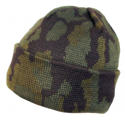ロシア語特殊部隊冬カモフラージュニット帽