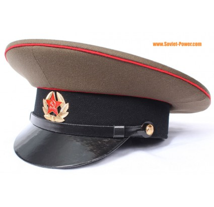 ソ連/ロシア軍軍曹軍バイザー帽子