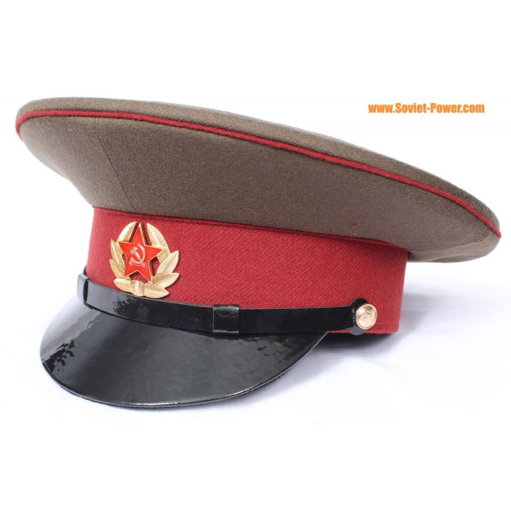 f9acc3867 USSR Army Internal Troops Officer maroon visor cap