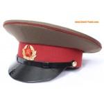 Gorra de visera marrón del oficial de tropas del ejército de la URSS