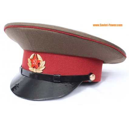 Berretto marrone visiera URSS Army interno truppe Ufficiale