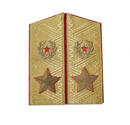Soviet Army GENERAL PARADE overcoat shoulder boards since 1974
