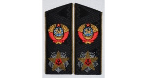 Soviet ADMIRAL uniform black shoulder boards USSR epaulets