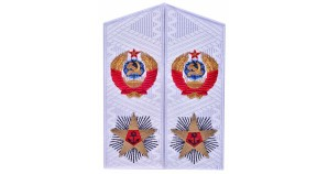 Soviet white shoulder boards for ADMIRAL uniform