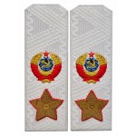 Soviet MARSHAL's USSR uniform shoulder boards epaulets on a shirt