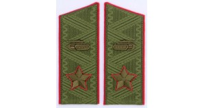 Soviet main MARSHAL of armored forces field overcoat shoulder boards