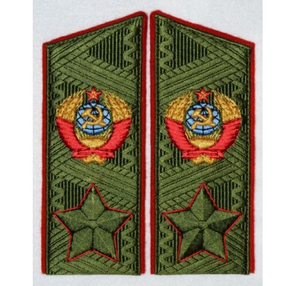 Soviet MARSHAL's uniform green shoulder boards with embroidery
