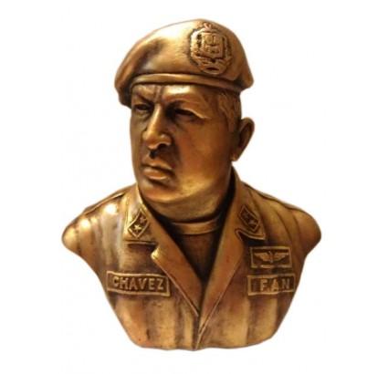 President of Venezuela Hugo Chavez bronze bust
