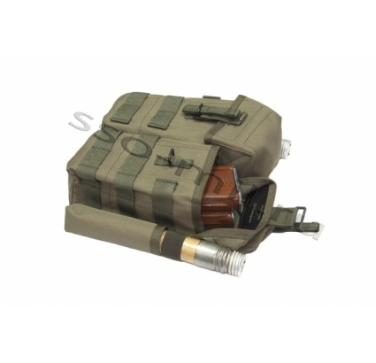 Equipo ruso MOLLE Pouch 4 AK y 2 RPS SPON SSO airsoft