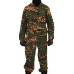 ジッパーカエルパターン上のスナイパー戦術的なカモKLMの制服